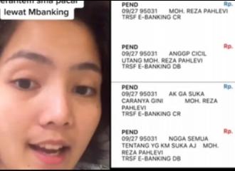 Viral Gaya Berantem Sepasang Kekasih: Via M-Banking Karena WA Diblokir