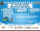 30th Festival Budaya Universitas Indonesia