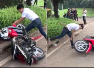 Pemuda yang Rusak Motor Sendiri Karena Ditilang Terancam Hukuman Penjara