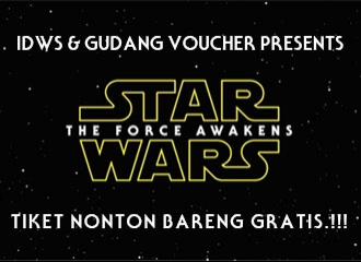 Gudang Voucher Presents : Tiket Nonton Bareng Star Wars, GRATIS!